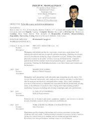 Sample Resume For Medical Technologist Letter Resume Directory