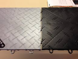 racedeck vs motorfloor costco the garage journal board the motodeck is the black tile with the double diamonds the racedeck is the single diamond grey