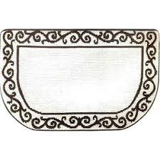 kitchen slice rugs kitchen plush step slice scroll beige brown in x in memory berber kitchen