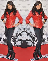 aj wears a danier leather jacket aldo boots jimmy choo for h m bracelet and a shay lowe ring