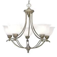 5 light chandelier brushed nickel progress lighting in hampton bay burbank