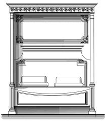 vanderbilt furniture. exellent vanderbilt sketch of habersham biltmore vanderbilt master bed for furniture