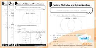 Ks2 Prime Numbers Activities