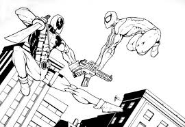 Small Picture Get This Free Deadpool Coloring Pages to Print 105375