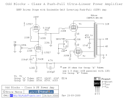oddblocks class a push pull kt88 tube amplifier 12sl7 driver 12sl7 srpp kt88 push pull tube amp schematic