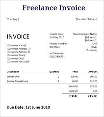 How To Invoice For Freelance Work Amazing Invoice Template Freelance Work Denryoku