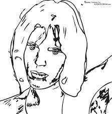 Small Picture Mick Jagger By Andy Warhol coloring page Free Printable Coloring