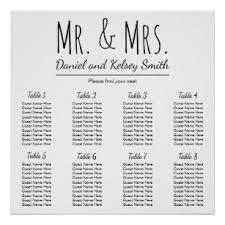 Wedding Seating Charts Zazzle Au