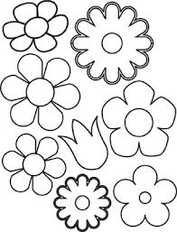 Flowers Template Paper Flower Flower Template Paper