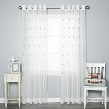 pom pom polka dots sheer grommet curtain panels