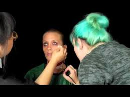 makeup tutorial from runway model to zombie