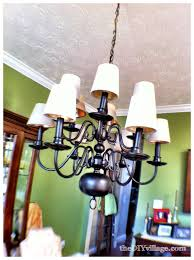 then it was time to figure out how to hang the large entrance chandelier