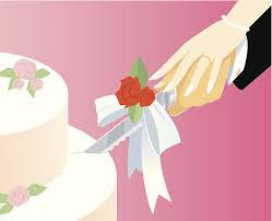 cutting the wedding cake clipart. Unique Clipart Cutting Wedding Cake C Vector Art Illustration In The Clipart