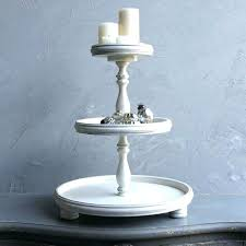 3 tiered tray antique white wood tier wooden stand hobby lobby metal
