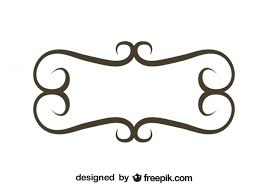 frame design vector. Contemporary Design Minimalist Retro Floral Frame Design Free Vector For