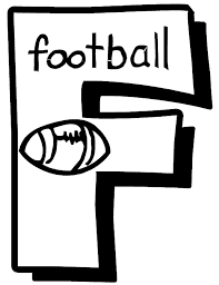 Small Picture Letter F Football Free Alphabet Coloring Pages Alphabet Coloring
