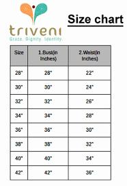 Blouse Size Chart Blouse Size Chart