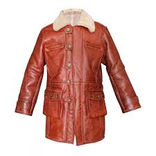 bane coat real sheepskin fur leather jacket