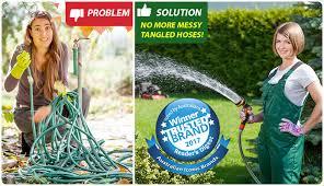 hills retractable garden hose reels in