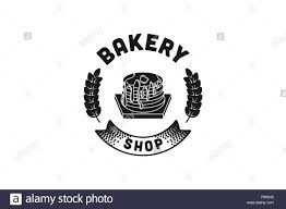 Cupcake And Wheat Vintage Bakery Logo Designs Inspiration Isolated