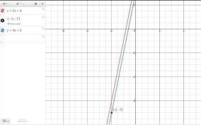 solution directions write an equation for each line in point slope form and slope intercept form problem passing through 2 7 and parallel to the