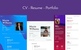 Online Resume Portfolio Lets Build Your Online Profile With This Free Bootstrap