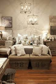 Great Rustic Chic Bedroom Design..Love These Ottomans...how French Farmhouse Can  You Ask For?