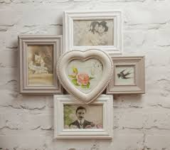 5 picture vintage multi photo frame grey neutral heart multi frame sass belle