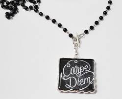 Quote Jewelry Awesome Carpe Diem Necklace Quote Jewelry Positive Jewelry