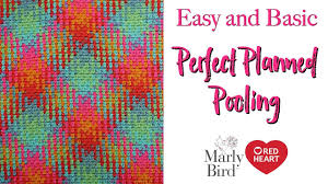 Red Heart Yarn Color Chart Planned Pooling Made Easy With Moss Stitch New Yarn By Red Heart Right Handed