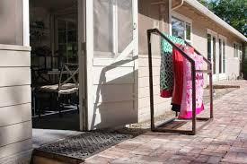 outdoor towel rack pool kienandsweet furniture mounting a wooden towel rack
