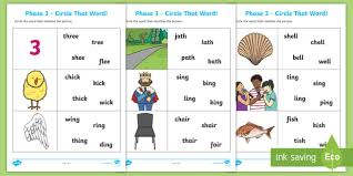 These cartoonito activity sheets cover all of the 42 letter sounds in jolly phonics. Ch Sh Th Ng Circle That Word Worksheet Teacher Made