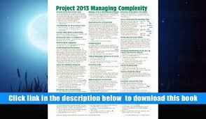project management quick reference guide read online microsoft project 2013 quick reference guide managing