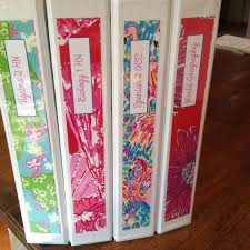 Lily Pulitzer Binder Covers Diy With Elephant Lily Pulitzer