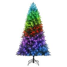 Twinkly Smart Christmas Tree Lights Twinkly 7 5 Feet Pre Lit Aspen Pine Artificial Christmas Tree App Controlled Multi Color Rgb Lights