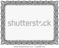 white certificate frame simple black white certificate frame border stock vector royalty