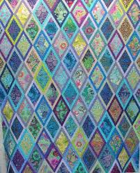 302 best Quilts - with diamonds images on Pinterest | Jellyroll ... & Quilt Vine: Kaffe diamonds reading blue and purple. Adamdwight.com