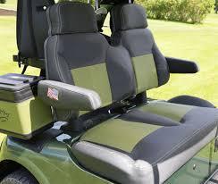 custom golf cart luxury seats with marine grade vinyl