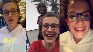 millie bobby brown and gaten matarazzo. millie bobby brown crazy laugh with caleb mclaughlin finn wolfhard and gaten matarazzo - youtube