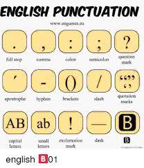 English Punctuation Wwwengamescu 00002 Question Mark Full Stop Colon