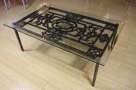 glass top wrought iron coffee table liexprecom sets with regard to for vanity glass topped coffee
