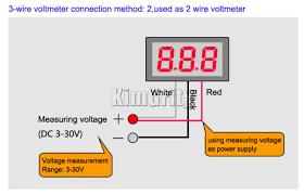 3 wire voltmeter wiring diagram 3 image wiring diagram dc 0v to 100v digital voltmeter power monitor 0 100v measurement on 3 wire voltmeter wiring