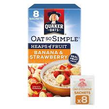 quaker oats so simple heaps of fruit banana stawberry 8x35 5g english