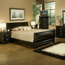 traditional furniture traditional black bedroom. sandberg furniture regency traditional black sleigh bed by bedroom e