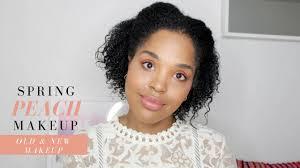 spring peach makeup look old favorites new makeup 1 nars colourpop too faced