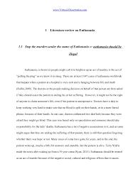 euthanasia literature review on euthanasia