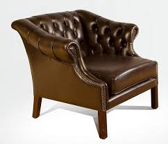 chesterfield houghton oned arm chair antique brown leather uk manufactured