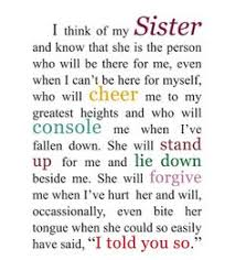 Beautiful Sister Quotes And Sayings Best of I Love My Sister Quotes And Sayings