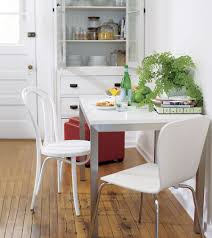 view in gallery stainless steel and wood table from crate barrel