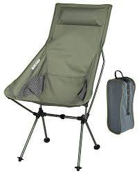 outdoor camping chair. MARCHWAY Lightweight Portable Folding High Back Camping Chair With Pillow For Outdoor Sport And Travel \u003e P